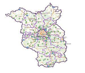 Landkarte mit Foto der Standorte des Maerker in Brandenburg